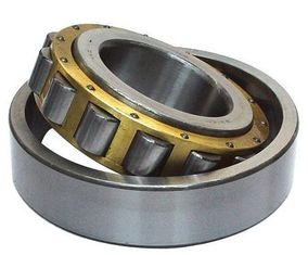 Single Row Cylindrical Roller Bearing Brass / Steel / Nylon Cage With 110mm Bore NU 2220 ECP