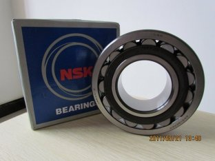 NSK Cylindrical Bore Self-aligning Roller Bearings 21320E 21320EAE4 Double Row With Low Friction